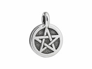 TierraCast Antique Silver Pentacle Charm each