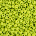 Miyuki Round Seed Bead Size 15/0 Chartreuse Opaque SB 0416
