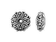 TierraCast Antique Silver Oasis Rondelle Bead each