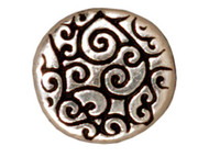 TierraCast  Antique Silver Round Scroll Bead each
