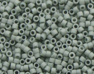 Miyuki Delica Seed Bead size 11/0 Light Grey DB 2281 Frosted Glazed Matte - each