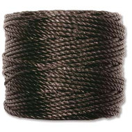 Superlon Black Heavy Bead Cord Tex 400 35 yards - each