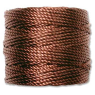 Superlon Brown Heavy Bead Cord Tex 400 35 yards - each