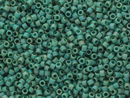 Miyuki Delica Seed Bead size 11/0 Green Mint AB DB 2313 Frosted Glazed Rainbow Matte - each