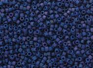 Miyuki Delica Seed Bead size 11/0 Indigo Blue AB DB 2319 Frosted Glazed Rainbow Matte - each