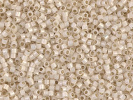 Miyuki DelicaSeed Bead Size 11/0 Pale Cream Opal Silver Lined DB1451