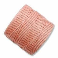 Superlon Coral Pink Heavy Bead Cord Tex 400 35 yards - each