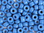 Crow Bead Glass Opaque Medium Blue 9mm - bag