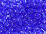 Crow Bead Glass Transparent Dark Blue 9mm - bag