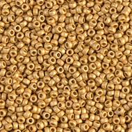 Miyuki Round Seed Bead size11/0 Gold Matte Duracoat SB 4202F