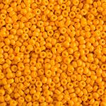 Miyuki Round Seed Bead Size 11/0 Marigold Yellow Opaque Duracoat SB 4453