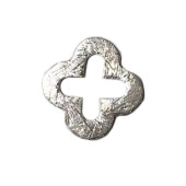 Sterling Silver Clover 14mm Brushed Closed - each