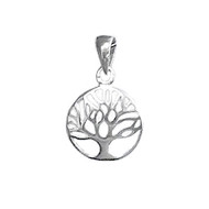 Charm Tree of Life 12mm with Jump Ring Sterling Silver - each