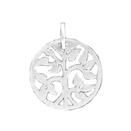 Charm Tree of Life 15mm no Jump Ring Sterling Silver - each