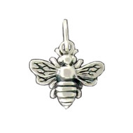 Charm Honey Bee 11X12mm Sterling Silver - each