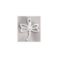 Charm Dragonfly 12x13mm Sterling Silver - each