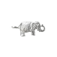 Connector Large Elephant 25x11.5mm Sterling Silver - each