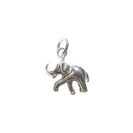 Charm Walking Elephant 14.5mm with Jump Ring Sterling Silver - each