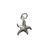 Charm Boogie Starfish 16.5x12.5mm with Jump Ring Sterling Silver - each
