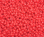 Preciosa Seed Bead Size 8/0  Opaque Medium Red 500g Bag - each