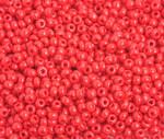 Preciosa Seed Bead Size 8/0  Opaque Medium Red 500g Bag - each