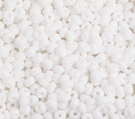 Preciosa Pony Bead Size 6/0 Opaque White 500g Bag - each
