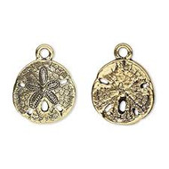 TierraCast Antique Brass Sand Dollar Charm each