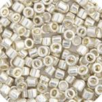 Miyuki Delica Seed Bead size 10/0 Silver Galvanized DB 0035