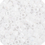 Miyuki Delica Seed Bead size 10/0 White Pearl AB Opaque DB 0202 (65450)