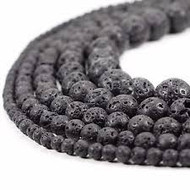 Lava Round Beads 4MM - by the strand