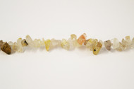 "Rutilated Quartz Bead Chips Gold 16"" -  by the strand"