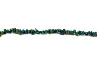 "Chrysocolla Bead Chips 16"" - by the strand"