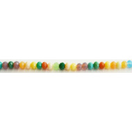 Chinese Crystal 4.5X6mm Rondelle Bead Multicolour Opaque - by the strand