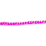 Chinese Crystal 4.5X6mm Rondelle Bead Fuchsia Transparent AB- by the strand