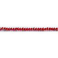 Chinese Crystal 4x3mm Rondelle Bead Cranberry AB - by the strand