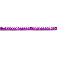 Chinese Crystal 4x3mm Rondelle Bead Magenta Metallic - by the strand