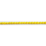 Chinese Crystal 4x6mm Barrel Bead Canary Yellow - by the strand