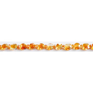 Chinese Crystal 8mm Rondelle and Coin Bead Copper - by the strand