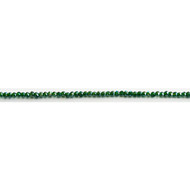 Chinese Crystal 2x3mm Rondelle Bead Dark Teal AB - by the strand