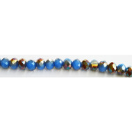 Chinese Crystal 8x10mm Rondelle Bead  Bronzed Chacedony - by the strand