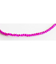 Chinese Crystal 2x3mm Rondelle Bead Hot Pink Metallic - by the strand