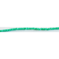 Chinese Crystal 2x3mm Rondelle Bead Turquoise - by the strand