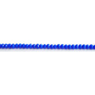 Chinese Crystal 4x3mm Rondelle Bead Cornflower Blue - by the strand