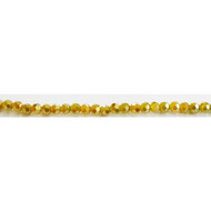 Chinese Crystal 4mm Faceted Round Bead Chardonnay - by the stand