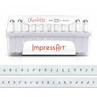 ImpressArt 3mm Charlotte Uppercase Letter Stamp Set