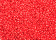 Preciosa Seed Bead Size 10/0 Opaque Light Red 500g Bag - each