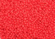 Preciosa Seed Bead Size 10/0 Opaque Light Red 500g Bag - each