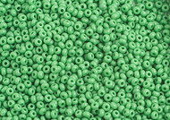 Preciosa Seed Bead Size 10/0 Opaque Medium Green Vial - each