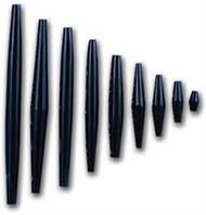 "Hairpipe 2.5"" Black Bone Bead 25 pieces"