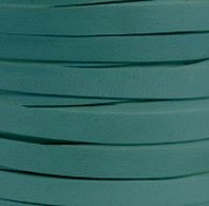 Leather Cord Flat 10x2mm Turquoise 5m spool - each